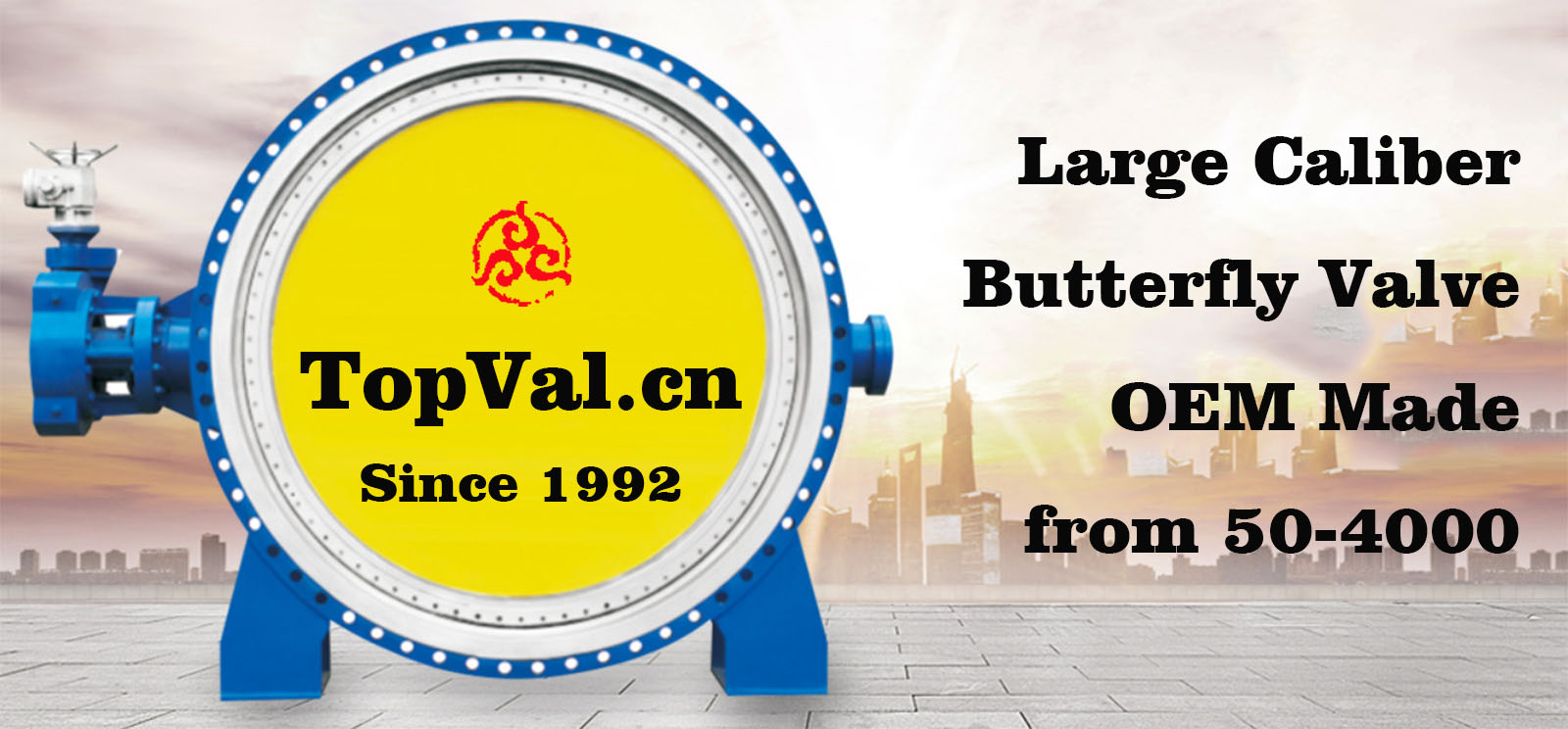 Large caliber Butterfly Valve OEM Made in China